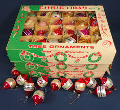Christmas Tree Ornaments 7 Dozen Small Glass Hand Painted Various Intended For Vintage