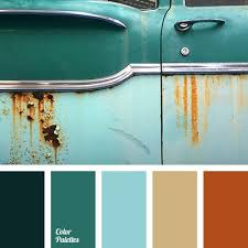 Orange Turquoise Brown Grey Color Scheme