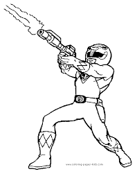 Power Ranger More Free Printable Cartoon Character Coloring Pages