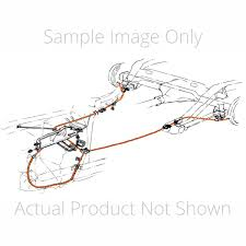 100 Chevy Truck Brake Lines 196465 12 Ton 2wd Longbed Rear Cable Snap Into Backing Plate Stainless