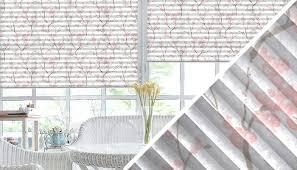 plissee mit muster blumen streifen uni wohntextilien de