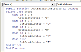 Calculate Letter Grade Function using VBA MS Excel iAccessWorld