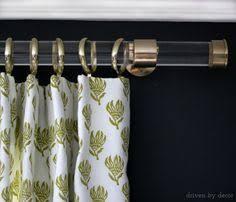 Umbra Cappa Curtain Rod Brass by Acrylic Curtain Rods With Brass Hardware Acrylic Curtain Rods