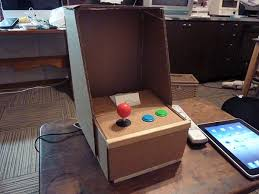 Cardboard IPad Arcade Cabinet