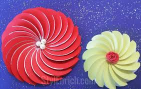 How To Cut A Piece Of Papercutting Make Easy Paper Flowers For Diy Step 4
