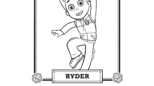 Paw Patrol Ryder Coloring Page Pages Together With