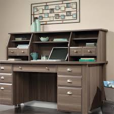 Cymax Desk With Hutch by Sauder Shoal Creek Executive Desk With Hutch In Diamond Ash