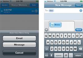 Sending Voice Memos in a Text Message The iPhone Book Covers