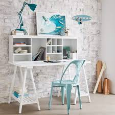 bureau chambre fille idée déco chambre fille deco tréteaux design bureau
