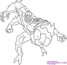 How To Draw Ben 10 Aliens Four Arms Step 5