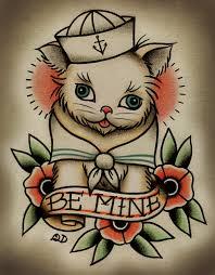 Loose Lips Sink Ships Tattoo by 8x10 Tattoo Print Be Mine Kitten 16 00 Via Etsy Tattoos