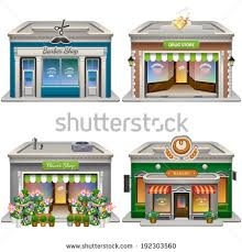 Bakery Building Clipart Buildings barber shop 450 x 470