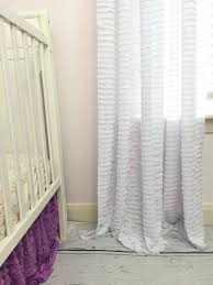 Purple Ruffle Blackout Curtains by Choosing The Best White Ruffle Curtains For Living Room Amazing