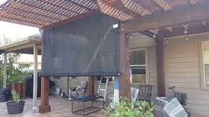 Roll Up Patio Shades by Diy Outdoor Rolling Shade Youtube
