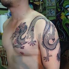 Chinese Dragon Shoulder Tattoo