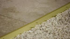how to install a transition from carpet to ceramic
