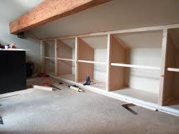 Installing Shelving In Attic Bedroom