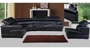 canapé cuir mobilier de salon cuir noir royal sofa idée de canapé et meuble maison