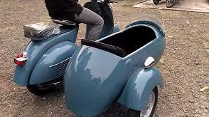 Vespa With Sidecar VBB 150 Medium Blue