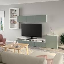 bestå agenc rangt télé vitrines blanc notviken gris vert