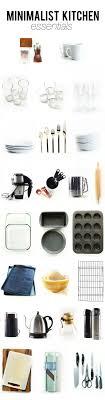 Our Top To Bottom Minimalist Kitchen Essentials