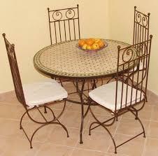 chaises en fer forgé tables en zellij et mosaique destockage grossiste
