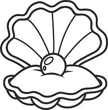 Pearl clipart black and white 1