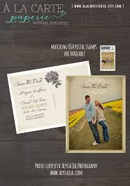 Rustic Wedding Save The Date Card