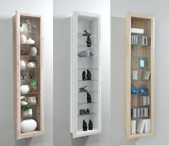 Wall Glass Cabinet Udina Display Mounted Cabinets