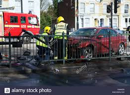 100 Fire Truck Accident Car Crash Fireman And Fire Truck In Attendance North London UK