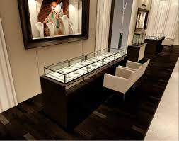 Modern Jewelry Shop Window Display Case And Wooden Cabinet