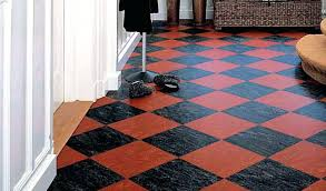 Floor Remarkable Linoleum Tiles Flooring Rolls Dual Tile Of Red And Black White Lino Awesome
