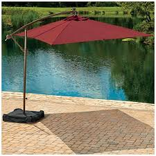 Solar Lighted Offset Patio Umbrella by Outdoor Offset Patio Umbrella Costco For Your Patio Design Ideas