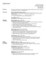 Teaching Resume Sample Art Teacher Examples Secondary