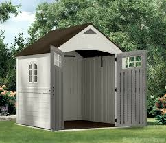 6x5 Shed Double Door by Suncast 7x7 Cascade One Plastic Shed Greenhouse Stores