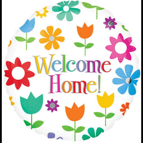 Anagram Welcome Home Foil Balloon - Flowers, 18""