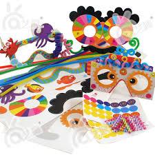 3pcs DIY Cartoon Children Glasses Kindergarden Handmade Art Craft Kids Color Paper Stickers Educational Toys Free