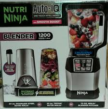 NEW Nutri Ninja Auto IQ Blender With Smooth Boost 1200W BL490 737278704643