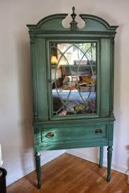 circa 1920 1940 duncan phyfe style glass door hutch with drawer