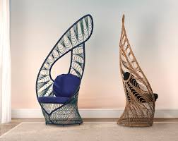 Kenneth Cobonpue's Peacock Easy Chair Wins U-S Product ... Contemporary Lounge Chair Fabric Metal With Armrests Outdoor Ding Chair Article Bene Modern Fniture 70s Rattan Lounge Basket White Willow Armchair Peacock Shabby Chic Terrace Conservatory And Patio Down To Earth Living Chaise Cushions Tedxoakville Home Restoration Of A 1980s Eames Style Plycraft By Teun Velthuizen For Urotan 1950s 55270 Hai Mosaic Charcoal Hemcom Interior Luxorious Indoor Tufted Forest Fast Stylepark An Original Papa Bear Designed Hans Wegner