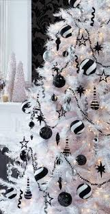 Chic Black And WhitePretty Christmas Decor Xmas Tree Decorations