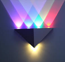 cheap 5w triangle led wall light sconces mirror l