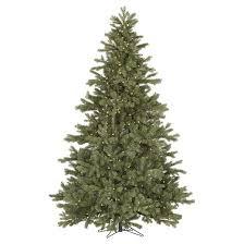 Frasier Christmas Tree Cutting by 7 5 U0027 Pre Lit Led Artificial Christmas Tree Frasier Fir White
