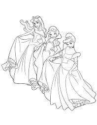 Princess Cinderella Printable Coloring Pages Free Snow White H M