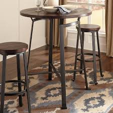 Pub Swivel Exciting Table Black Height Glass Wooden Set ...