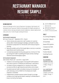 Restaurant Manager Resume Sample & Tips | Resume Genius Best Web Developer Resume Example Livecareer Good Objective Examples Rumes Templates Great Entry Level With Work Resume For Child Care Student Graduate Guide Sample Plus 10 Skills For Summary Ckumca Which Rsum Format Is When Chaing Careers Impact Cover Letter Template Free What Makes Farmer Unforgettable Receptionist To Stand Out How Write A Statement