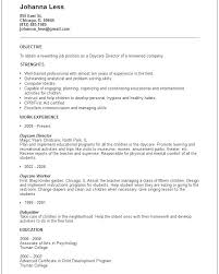 Duties Of Babysitter Nanny And Responsibilities Resume Daycare Objective Sample For