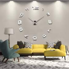 moderne wand uhr spiegel design wanduhr dekouhr wohnzimmer