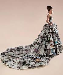 Creative And Fashionable Newspaper Craft It Looks Elegant Worth Money Instead Of Just Recycled