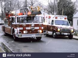 Fire Truck And Ambulance On A Emergency Call Stock Photo: 61559061 ...